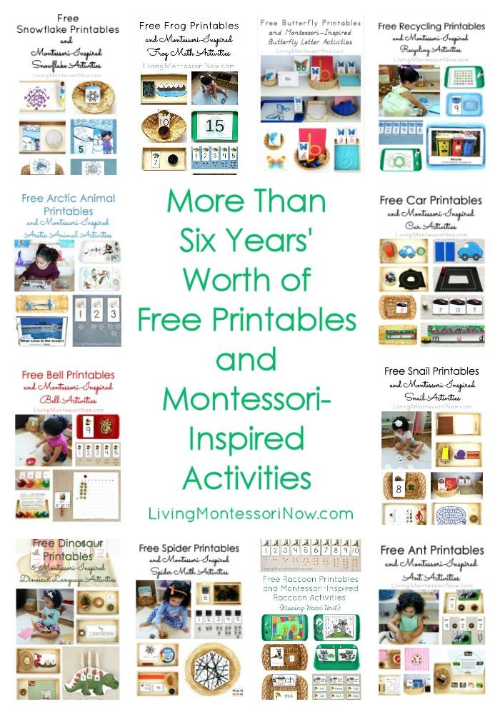 Here you'll find free printables and Montessori-inspired activities from 2016 along with more than six years' worth of free printables and activities for preschoolers through early elementary. Post includes the Montessori Monday linky collection.