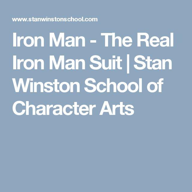 Iron Man - The Real Iron Man Suit | Stan Winston School of Character Arts