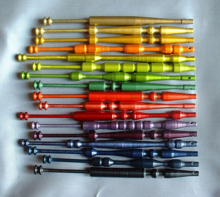 Coloured aluminium bobbins