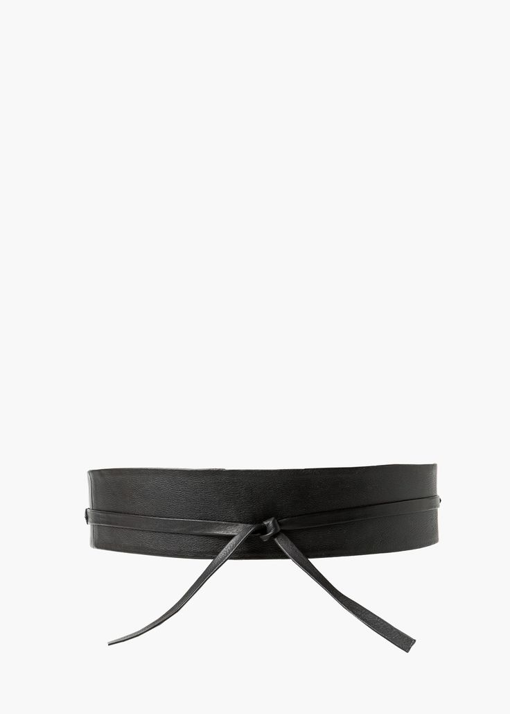 Leather obi belt - Belts for Women | MANGO