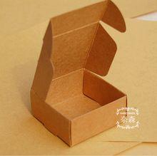 5.5 * 5.5 * 2.5 cm 20 pçs/lote frete grátis papel Kraft caixa de embalagem de papelão de embalagem caixas para doces jóias artesanato presentes(China (Mainland))