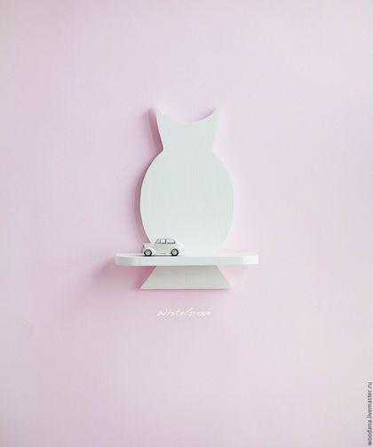 """Wooden shelf Owl / Детская ручной работы. Ярмарка Мастеров - ручная работа. Купить Деревянная полочка """"Сова"""". Handmade. Белый, сова, декор стен"""