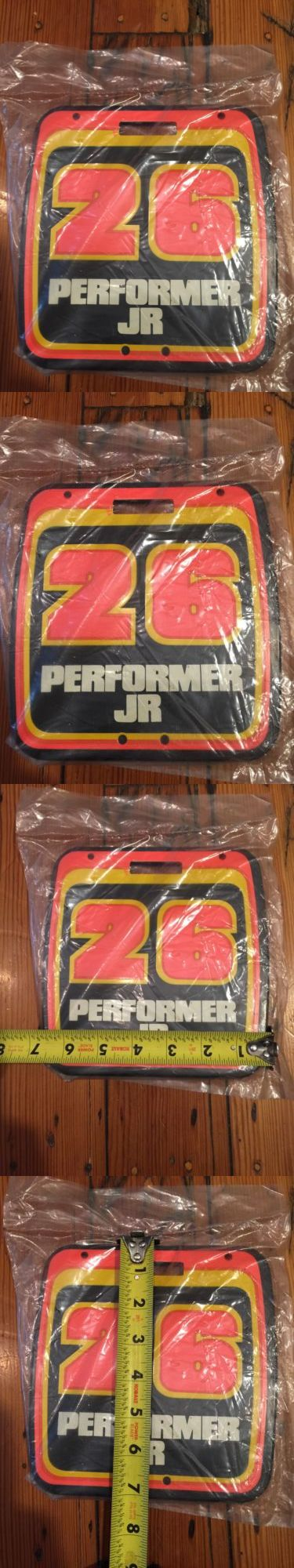 Decals Stickers 106953: Vintage Nos Old School Performer Jr Number Plate - Mx-Bmx -> BUY IT NOW ONLY: $59.95 on eBay!