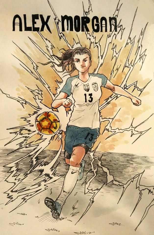 Sithsensui Page Liked · October 30 near Puchong ·    Day 30 Alex Morgan #alexmorgan #instagram #instagramart #inkdrawing #inktober #inktober2017 #ink #inktobermalaysia #artistsoninstagram #art #football #footballer