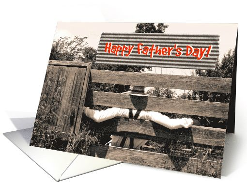 Father's Day - Stripes - Farmer - Country - Browns - Suspenders - Hat card    As low as $1.39 #father #country #Father'sDay