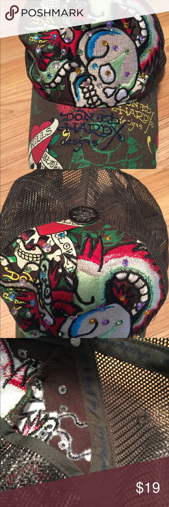 Don Ed Hardy designs adjust cap with skulls/snakes Don Ed Hardy designs adjustable baseball style hat with skulls and snakes - perfect Don Ed Hardy Designs Accessories Hats