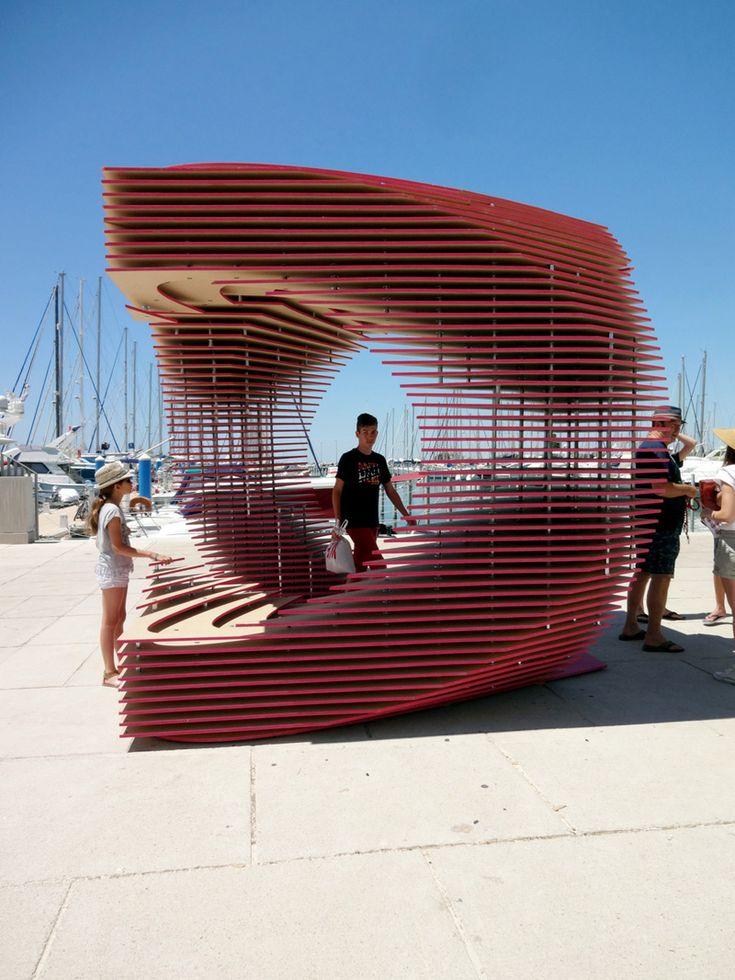 #arquitectura #efimera #kiosko #madera