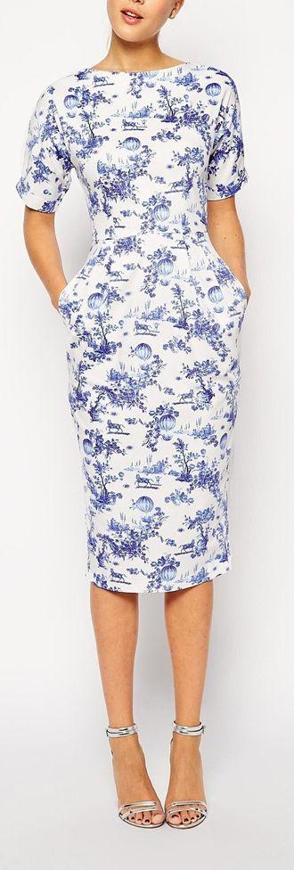 toile print dress
