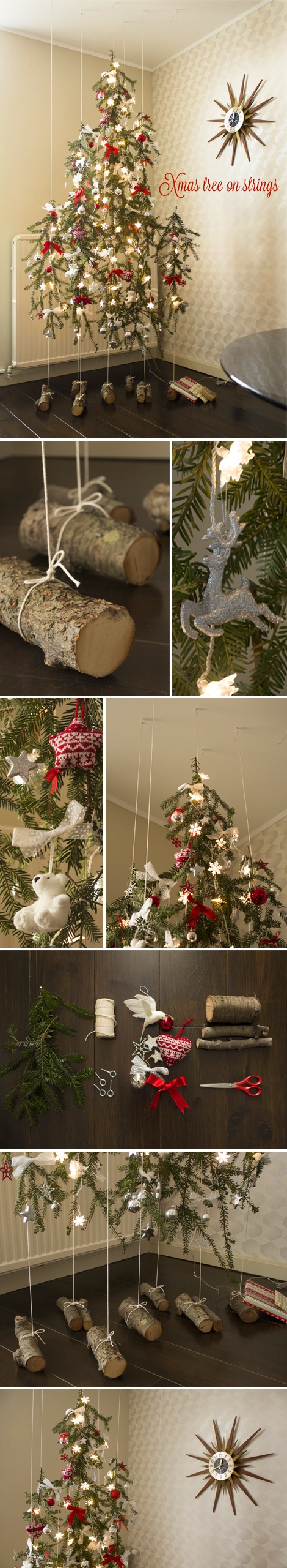 DIY Xmas tree on strings Coool, where can i hang this!?