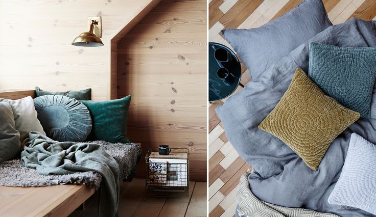 Create a cozy envionment with textiles and velour.