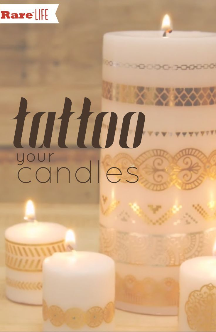 Glamorize your candles in just 40 seconds! #tattoocandles #candledecorating #ad
