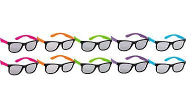 72a3797eb81 Neon Totally 80s Sunglasses 10ct Party City