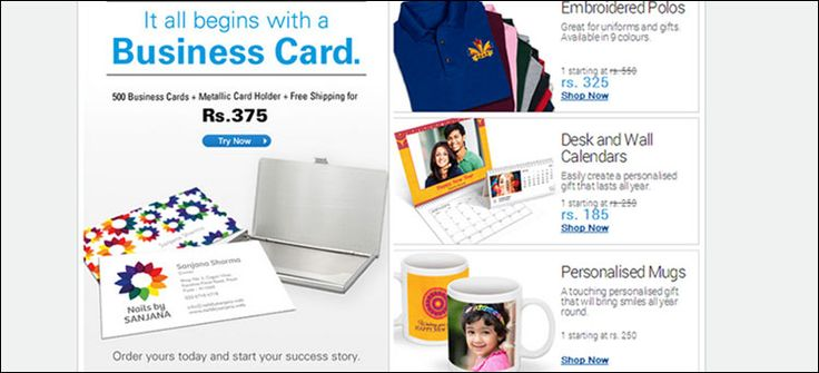 Vistaprint Best Deals India fer Enjoy Vistaprint