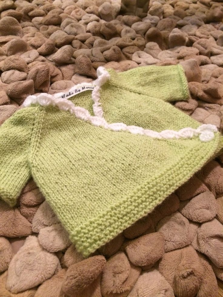 Knitted Baby Wrap Cardigan. Copyright Homemade By Marcie  Instagram: @homemadebymarcie