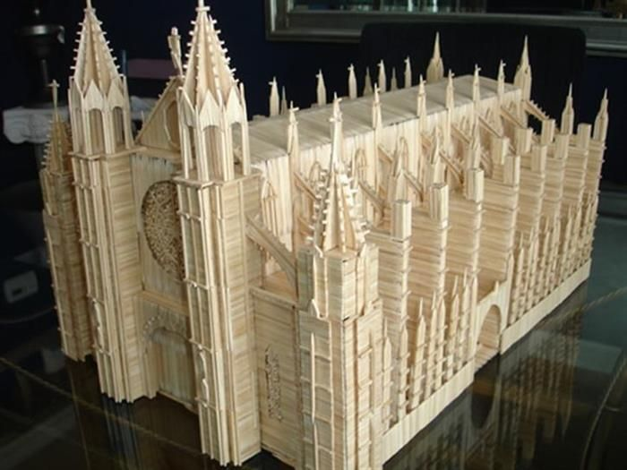 Toothpick Art by Stan Munro