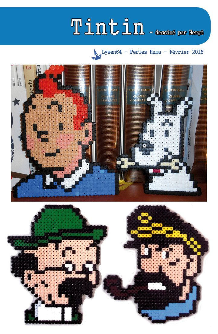 Tintin Hama Beads by Lywen64