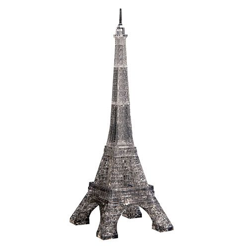 Crystal Puzzle Eiffel Tower Black 3D