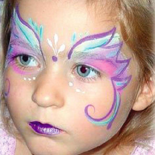 Resultado de imagen para maquillaje de mariposa para niña