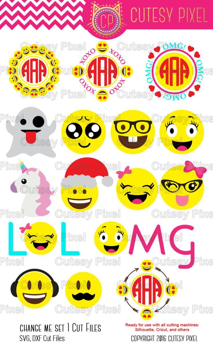 Emoji's Designs Svg cutting file, social media, cute emojis svg,Designs SVG, DXF, Cricut Design Space, Silhouette Studio,Digital Cut Files by CutesyPixel on Etsy