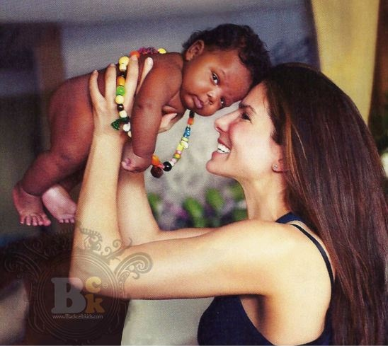 LOVE: Sandra Bullock + adopted son Louis