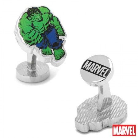 Hulk Action Cufflinks licensed by Marvel. Available at CUFFZ.com.au