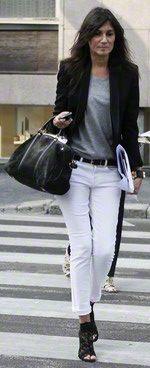 Emmanuelle Alt with her Sophia Coppola bag