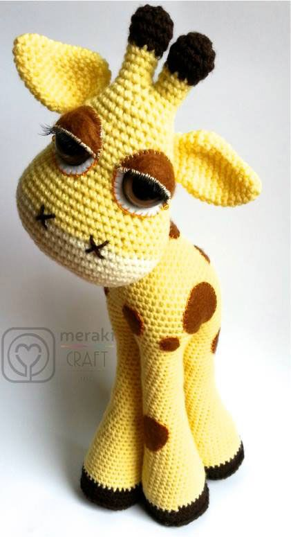 Flick the Giraffe amigurumi crochet pattern by Meraki Craft Inc.