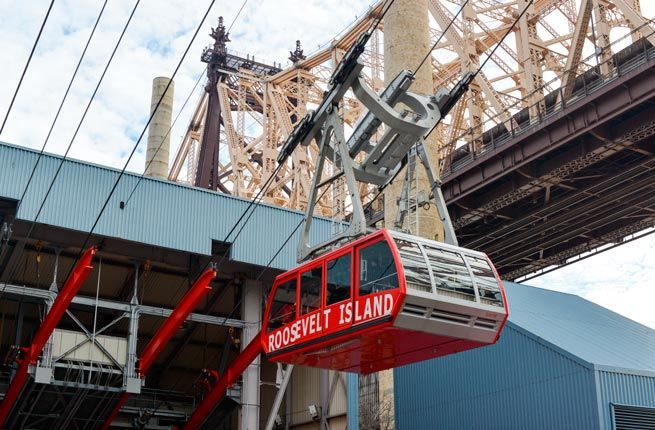 TAKE THE ROOSEVELT ISLAND TRAM You only need to bring your MetroCard (which you've already paid for if you have a multiday pass) to hop aboard the Roosevelt Island Tram for a ride. The tram system opened in 1976 and can carry 125 people at once across the East River. You'll reach a peak height of 250 feet on your journey, which only lasts about three minutes, despite traveling 3,140 feet. You can catch the tram at the Manhattan station at 2nd Avenue between 59th and 60th Streets. And you…