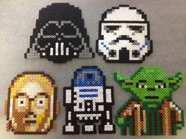 Star Wars perler coasters -Set of 5- - by Rainbow.andthe.Sun on madeit for $32.00 www.madeit.com.au/Rainbow.andthe.Sun