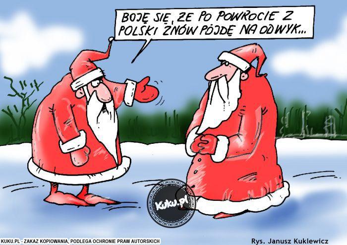 """Komiks """"Obawy św. Mikołaja"""" (źródło: http://kuku.pl)"""