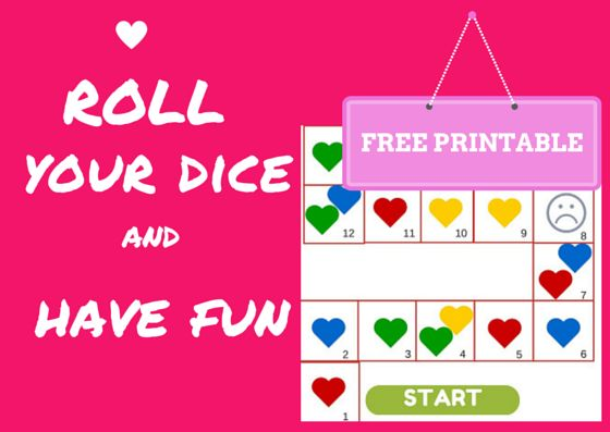 Fun Activities for Children: Valentines Day -Collect the Hearts Board Game - Fr...