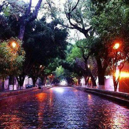 Calzada San Diego Morelia lluvia hermoso