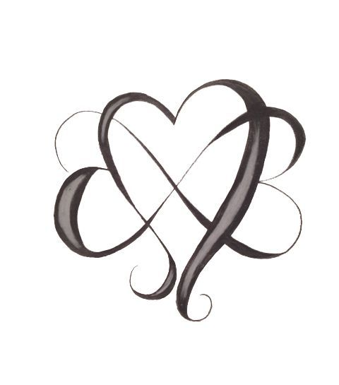 infinity heart tattoo - Google Search