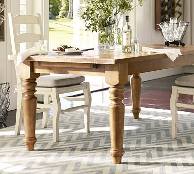 Sumner Extending Dining Table Potterybarn Have This Want To Build The Shelving Buffet In Background Home Furnishings