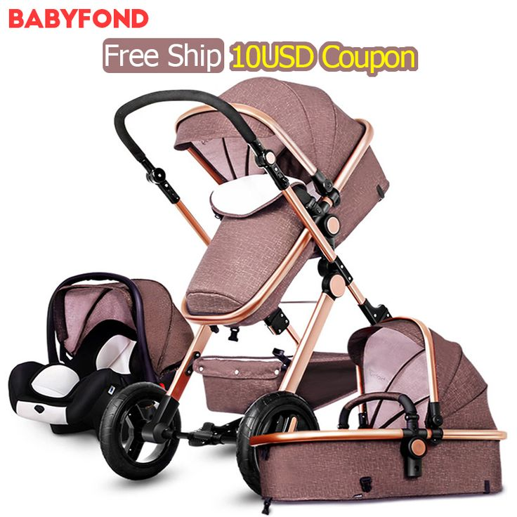 RU free ship!  10USD COUPON !Original Baby Strollers 3 In 1 Carriage Super Light Car High Landscape Ultra Convenience To Travel
