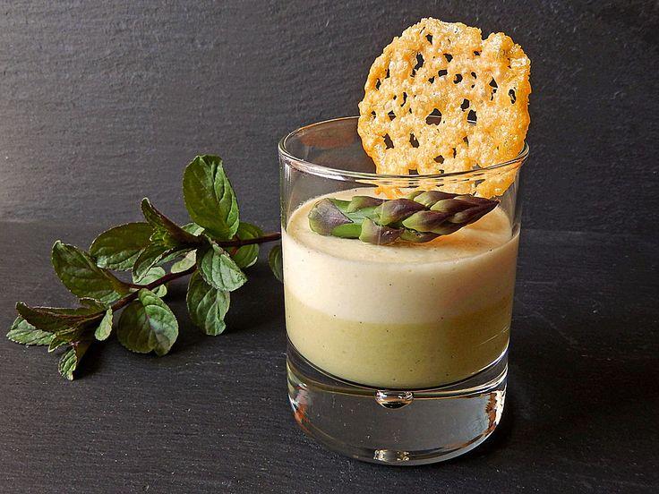 Spargel - Panna Cotta mit Käse - Schinken - Crackern, ein schönes Rezept aus der Kategorie Kalt. Bewertungen: 73. Durchschnitt: Ø 4,4.
