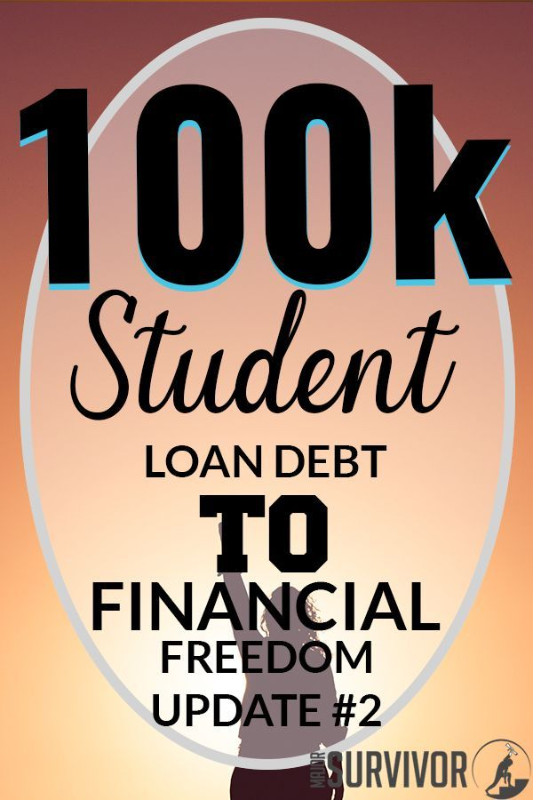My Student Loan Payoff Plan Journey From 100k To Financial Freedom Update 2 Major Survivor Student Loans Student Loan Debt Loan Payoff