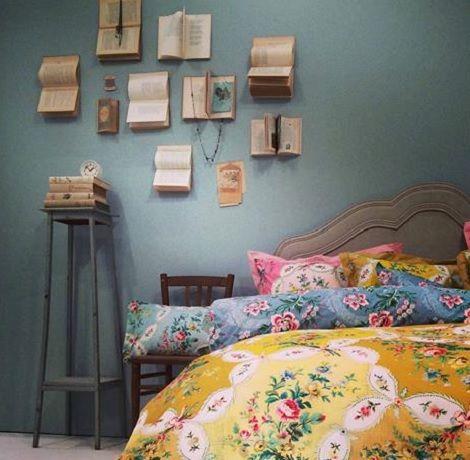 Pip la fleur de vie, yellow,overtrek,cover,dekbed,studio,nekrolkussen, 35 x 60, 45 x 45 cm. theo bot, bloem print geel
