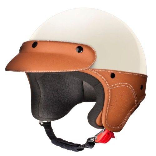 Laura Smith LS Elegance Fashion Motorcycle Scooter Vespa Helmet Cream with Peak   eBay