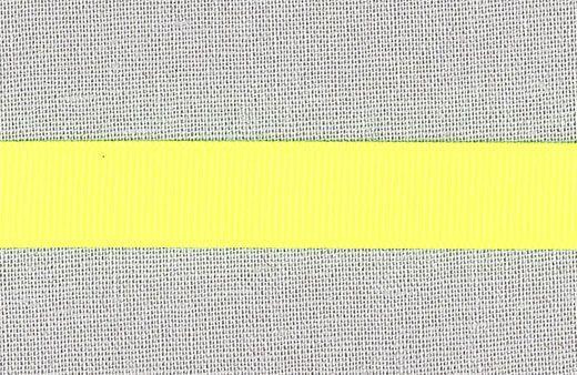 73112 Gros grain bånd 15mm neon gul 5m