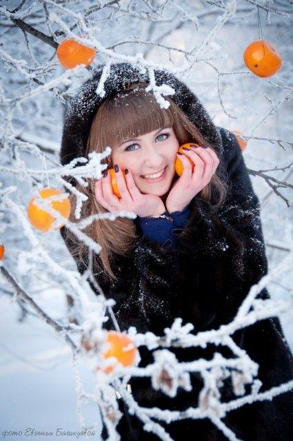 Фотограф Евгения Башкуева - Зимняя фотосессия Кати