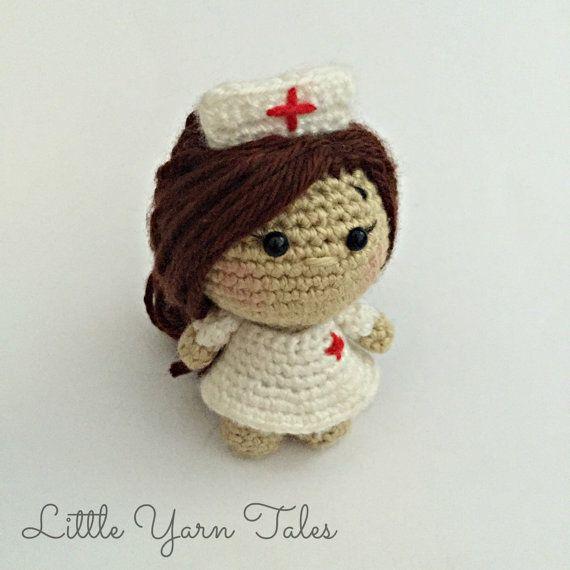 Amigurumi Nurse PDF WRITTEN PATTERN by LittleYarnTales on Etsy