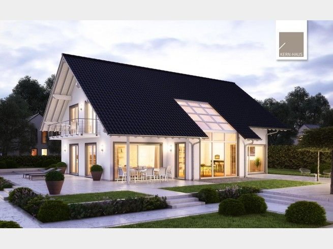 modernes luxus architektenhaus von kern haus ag hausxxl. Black Bedroom Furniture Sets. Home Design Ideas