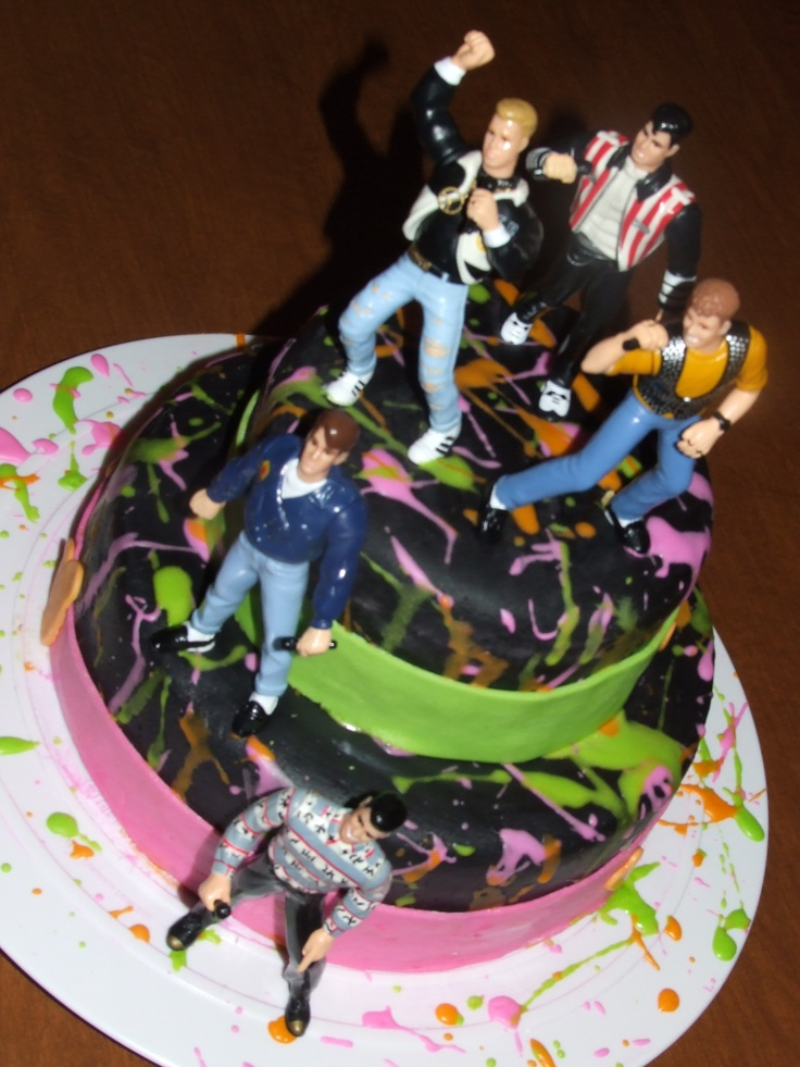 New Kids On The Block cake... can I have one of these for my Birthday? @Jayna Mazzaferro-Denbow Mazzaferro-Denbow Swanson, @Amanda Snelson Snelson... It's coming up!