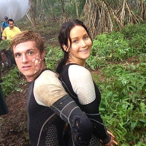 I love this pic. #JenniferLawrence #JoshHutcherson #CatchingFire