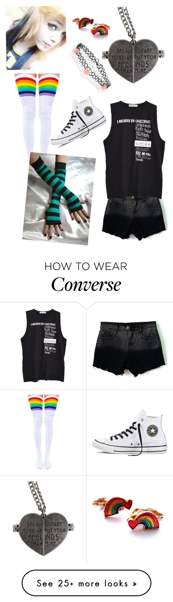 """Untitled #335"" by unicorn1233 on Polyvore featuring Leg Avenue, Converse, Monsoon, women's clothing, women, female, woman, misses and juniors"