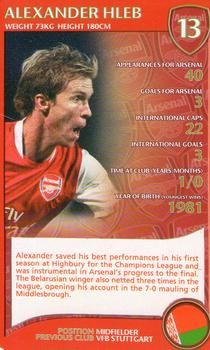 2007 Top Trumps Specials Arsenal #NNO Alexander Hleb Front