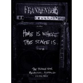 Frankenbok Home Is Where the Stage Is DVD features 15 tracks that introduce the viewer to the intimate and hairy world of Frankenbok and give them a front row seat minus the sweat.
