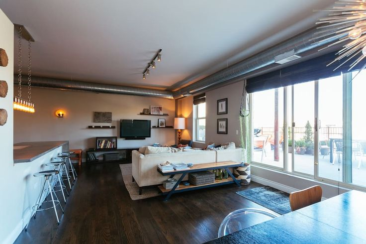 Check out this awesome listing on Airbnb: Designer Loft by Lake, Food, & CTA - Condominiums for Rent in Chicago