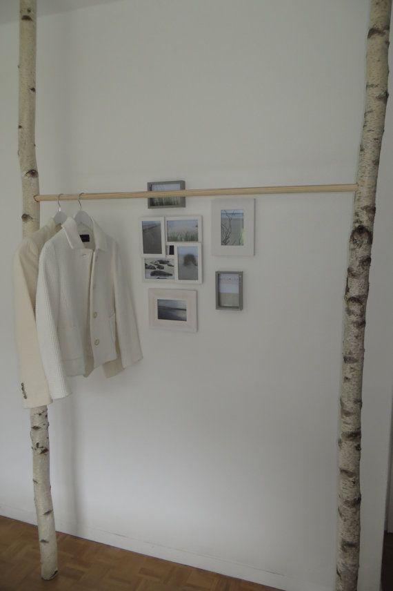 Kleiderstange Birke mit Holz oder Metallstange von mibishop auf Etsy